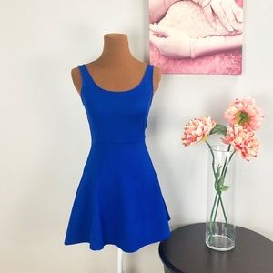 DIVIDED | Electric Blue Skater Dress